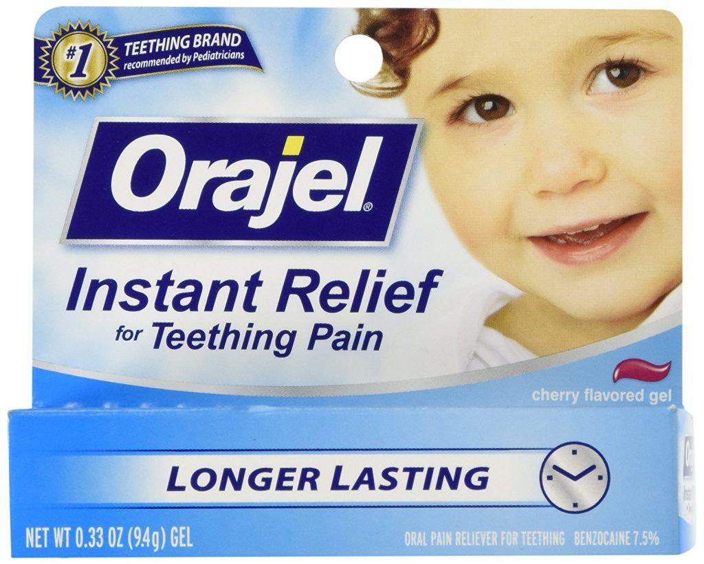Baby Orajel para la dentición con benzocaína