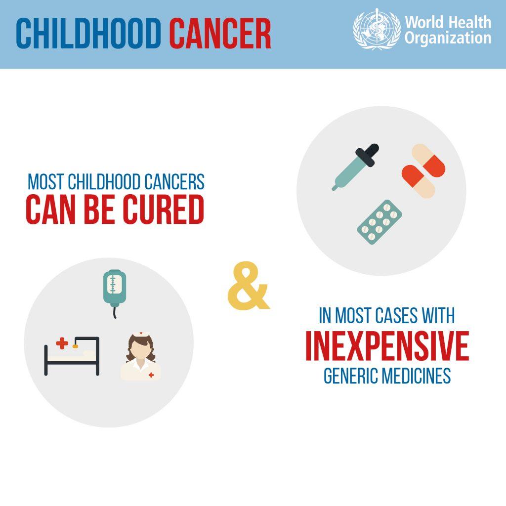 El cáncer infantil puede ser curado con medicamentos genéricos, cirugías y quimioterapi