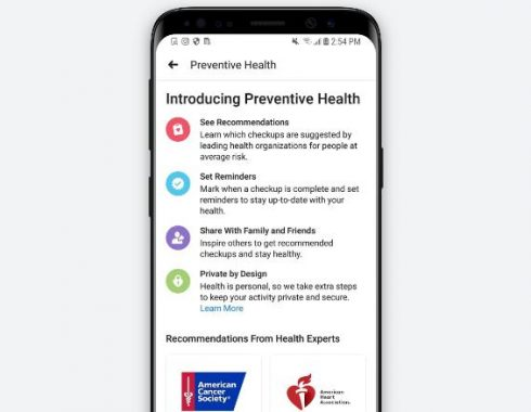 Facebook lanza herramienta para ayudar a la prevención de enfermedades