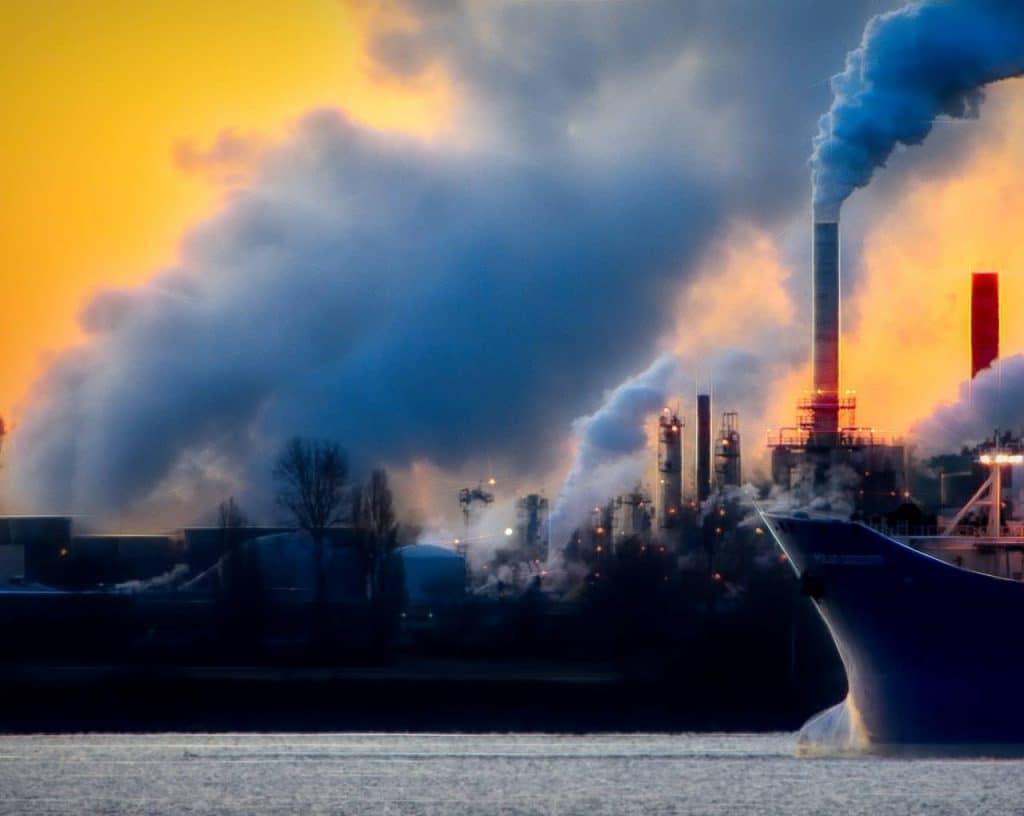contaminación del aire y coronavirus
