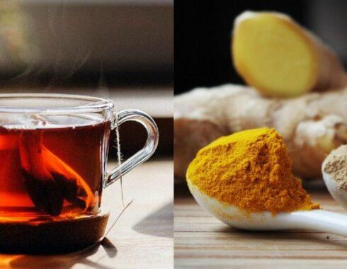 Beneficios del té de cúrcuma y jengibre