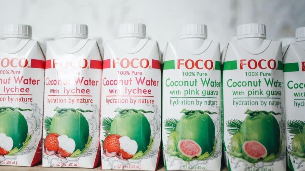 Efectos del agua de coco